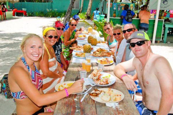 saona island buffet