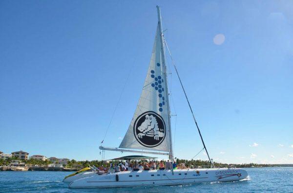 saona island beach day catamaran